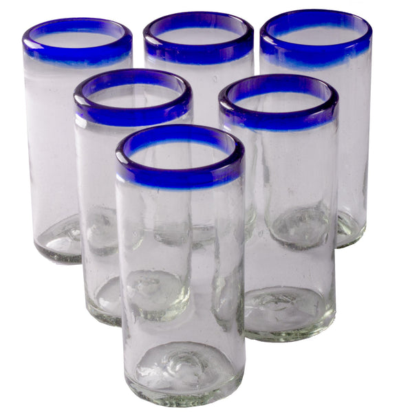 Orion Blue Rim 22 oz Tall Tumbler - Set of 6
