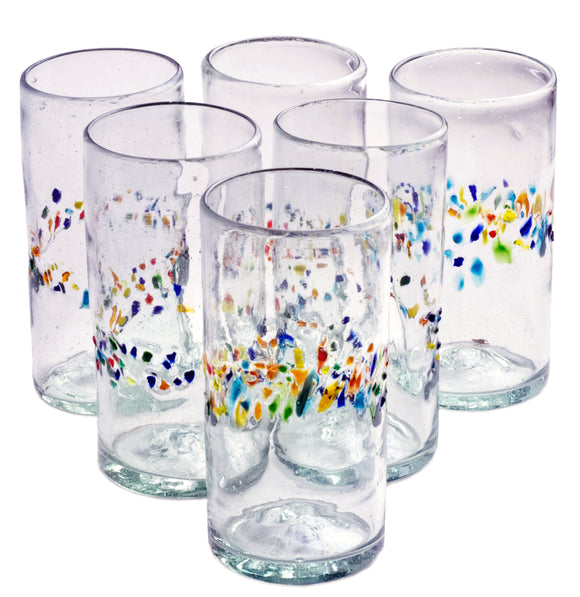Orion Tutti Frutti 22 oz Tall Tumbler - Set of 6 - Orion's Table Mexican Glassware