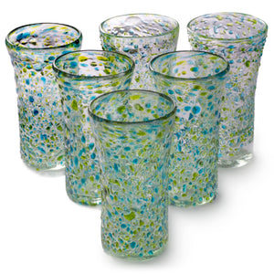 Orion Del Mar 14 oz Tumbler - Set of 6 - Orion's Table Mexican Glassware