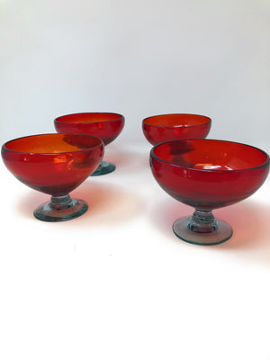 Orion Glassware Red Bowl - Orion's Table Mexican Glassware