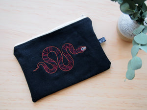 Upcycled Snake pouch