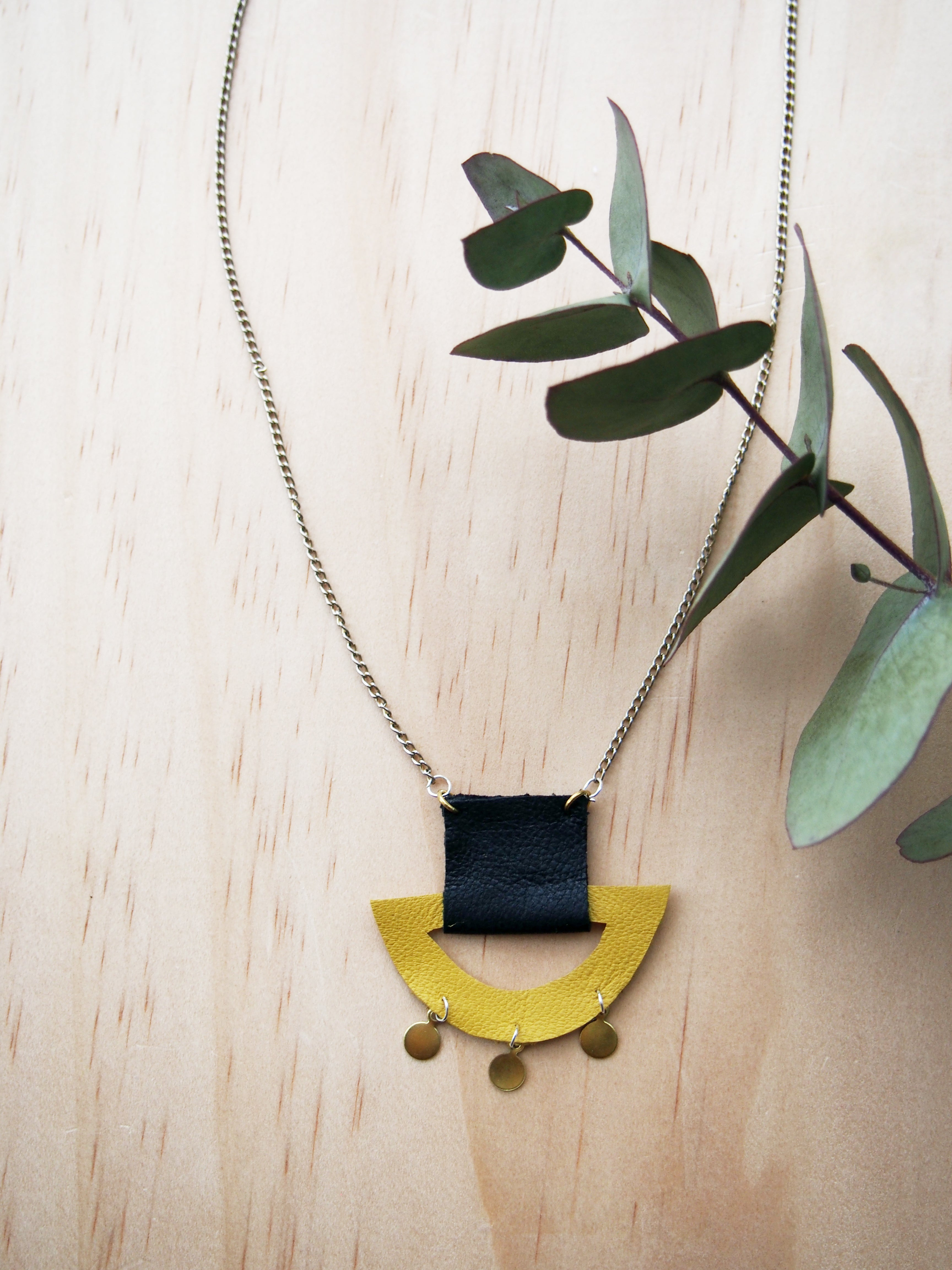 Yellow Croissant Necklace