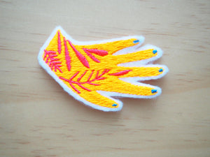 Floral tattoo Neon Hand (Iron on)