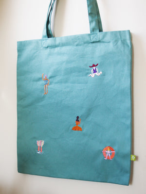 Beach time tote (sage green)