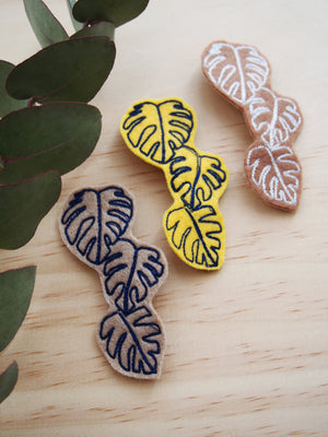Monstera Brooches
