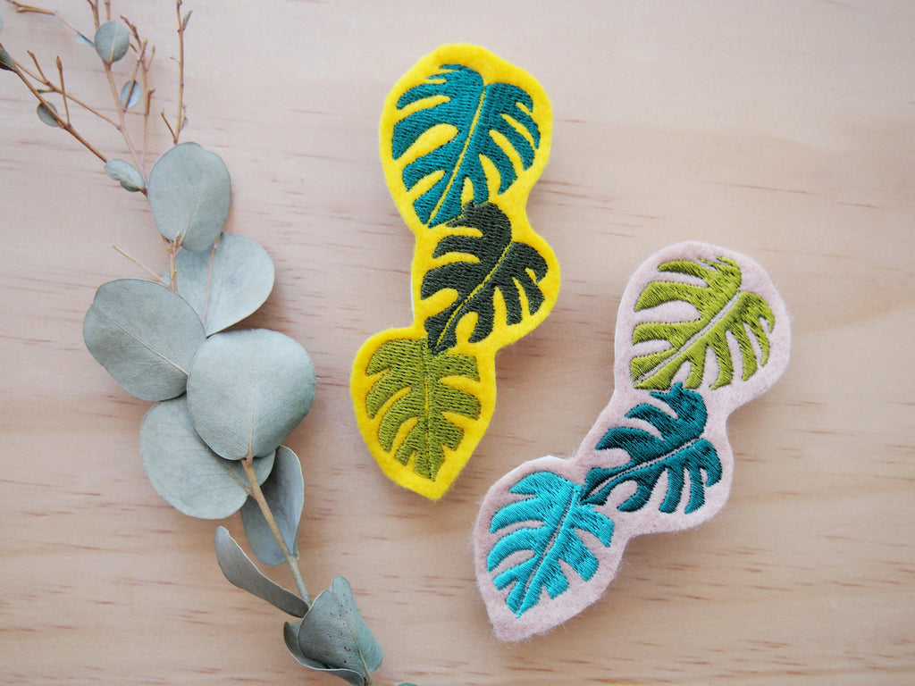 Monstera Leafs big hair barrette