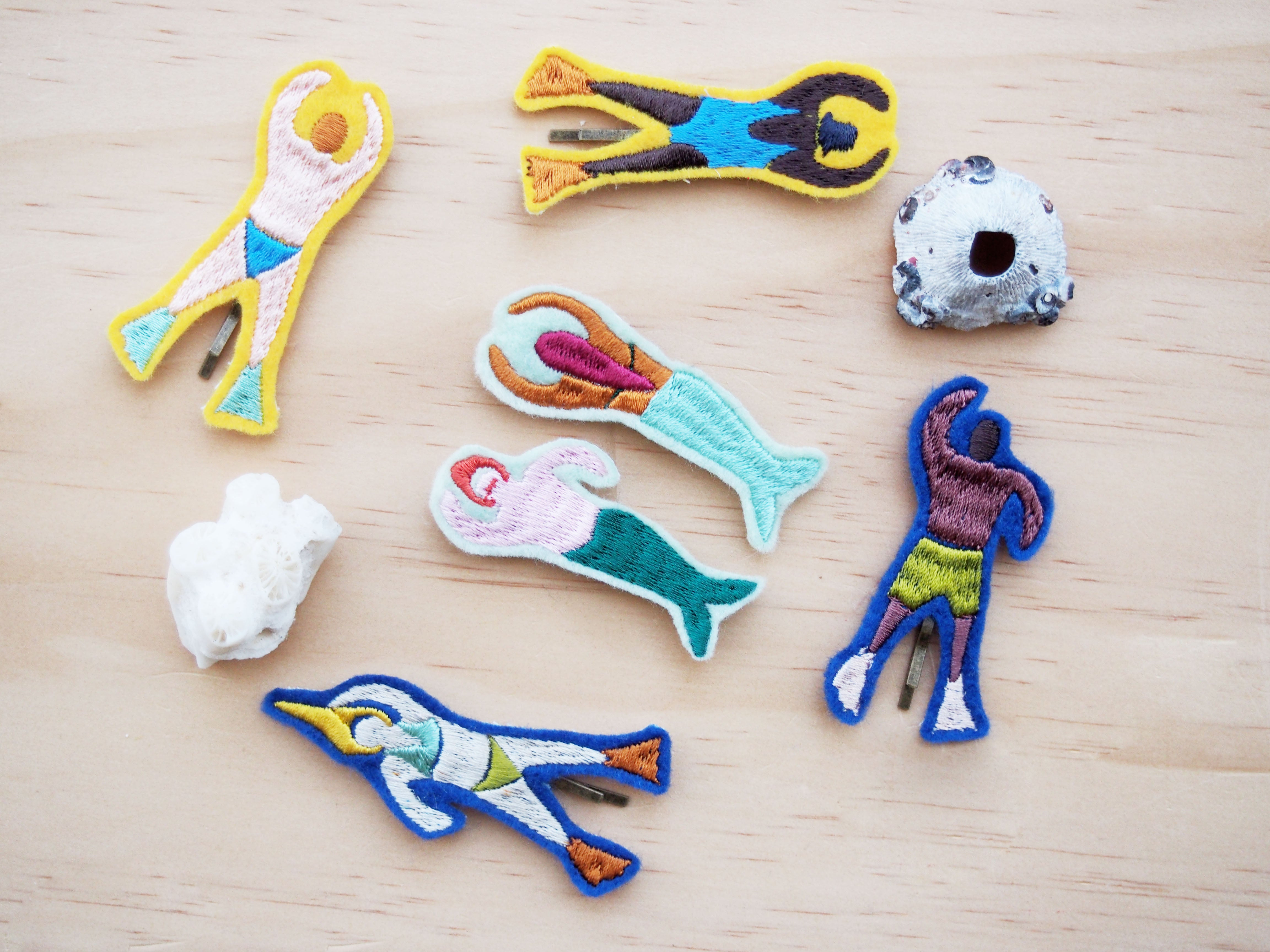 Swimmers Hair clips