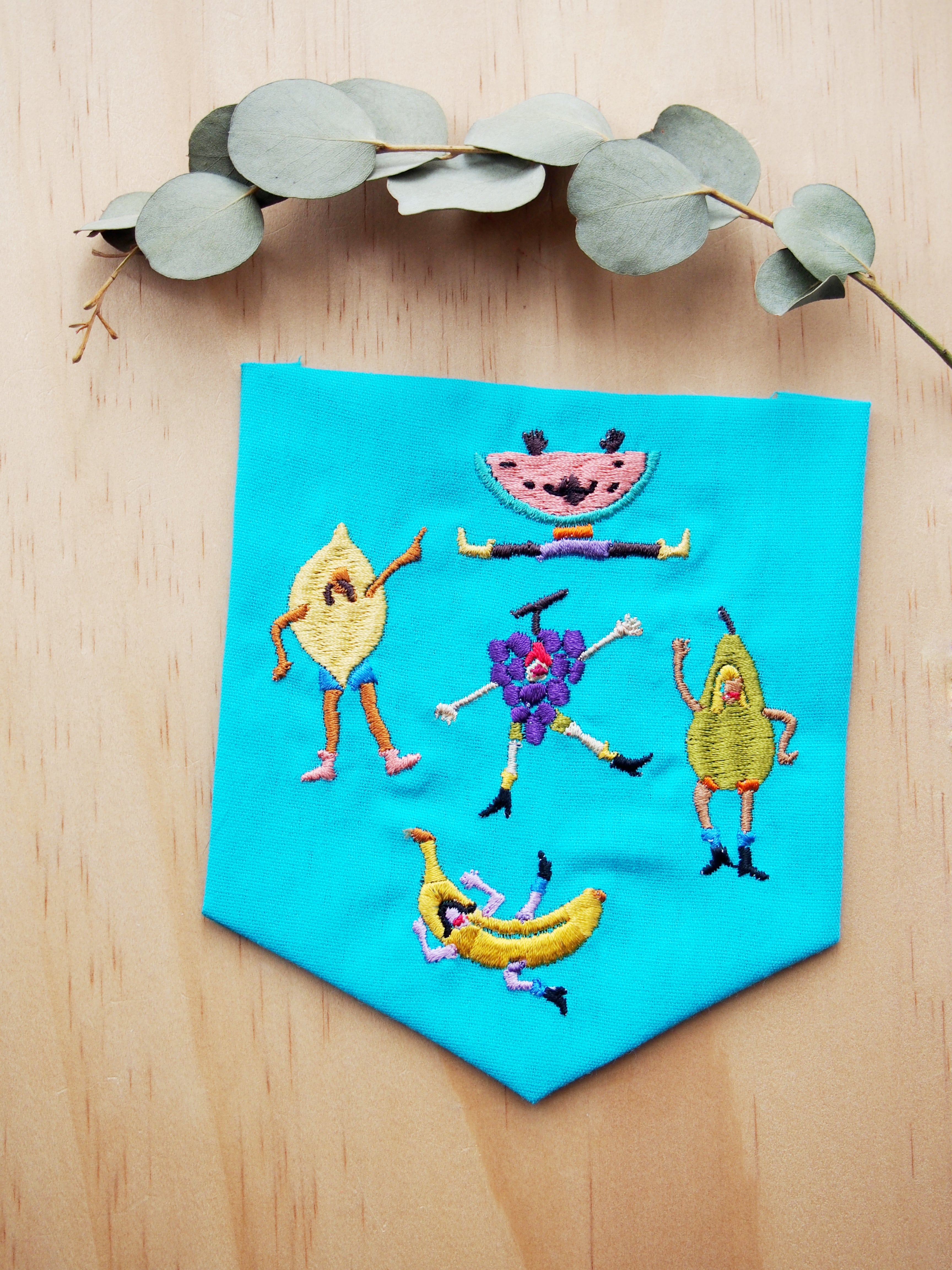 "Crazy Fruits ""Sew your own pocket"""