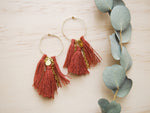 Terracotta Tassel Hoops