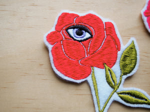 Rose with Eye iron on