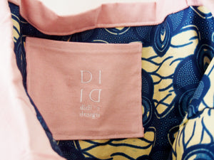 Handmade Maxi Pink Corduroy Tote Swimmers Design