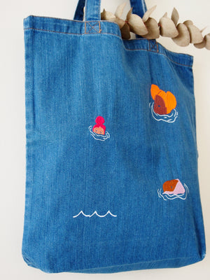 Going for a swim Denim Tote