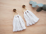 Triangle Tassel Earrings Studs