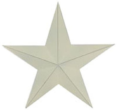 Craft Outlet Antique Star Wall Decor, 18-Inch, Off-White