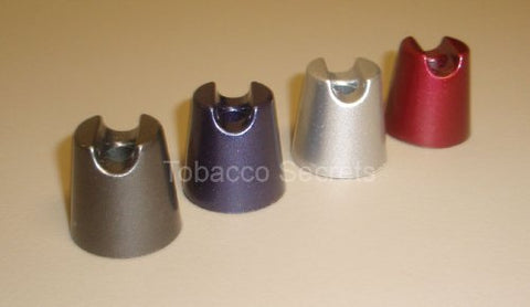 Metal Cigarette Snuffers - Set Of 4 (1 Each Grey, Indigo, Silver, Red)