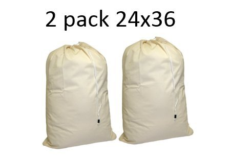 Cotton Laundry Bag, - 24 X 36 - Sturdy, 100% Cotton, Locking Drawstring Closure For Easy Carrying, Perfect Laundry Bag For College Students Living In Dorms, And Sorting Laundry At Home.