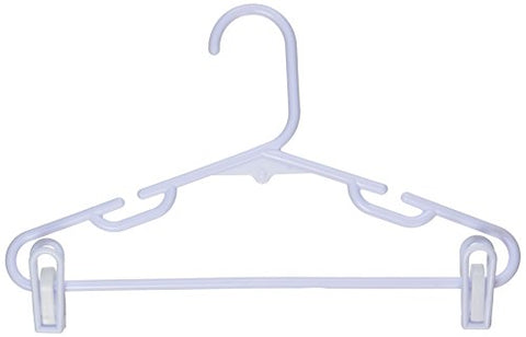 Honey-Can-Do Hngt01329 Kid'S Tubular Hanger With Clips White,
