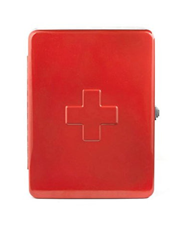 Kikkerland First Aid Cabinet, Red