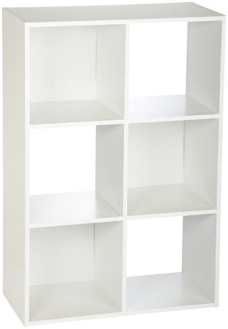Closetmaid 8996 Cubeicals 6-Cube Organizer, White