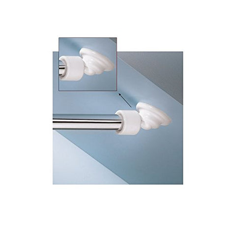 Angled Shower Rod Mount For Sloped Walls - Low Cost Solution