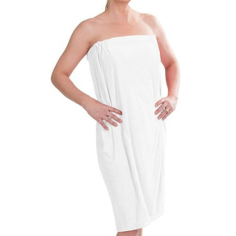 Dii Women'S Microfiber Shower Wrap, 55X32.5, Beach Wrap, Spa Wrap, Bath Wrap, Machine Washable, Perfect For College Dorm, Pools, Gyms, Beaches, Locker Rooms, Bathroom, White