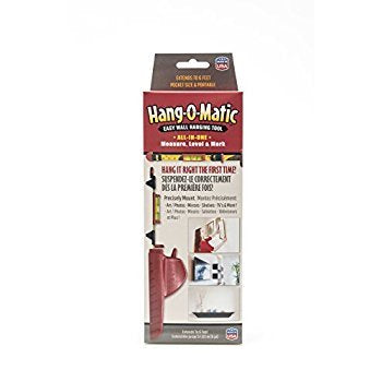 Hang-O-Matic All-In-One Picture Hanging Tool, 8 Inches, Red