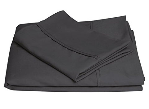 Brooklyn Bedding Queen Brushed Microfiber Sheet Set, Charcoal