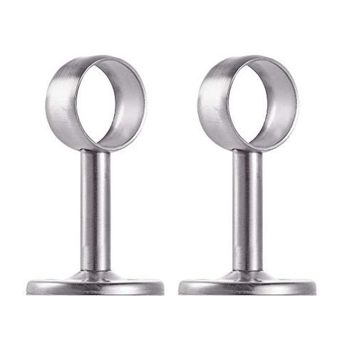 Increway Stainless Steel Wardrobe Pipe, Dia 32Mm(1-1/4 ) Closet Lever Support Rod Holder Socket Bracket, Set Of 2