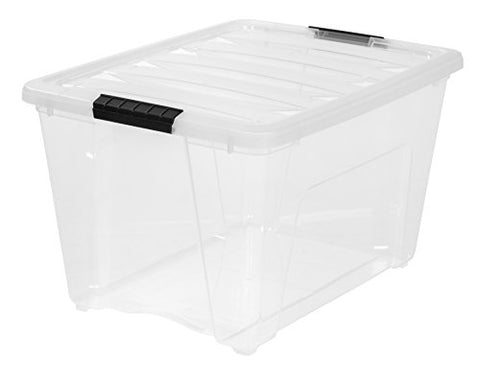 Iris 54 Quart Stack & Pull Box, Clear