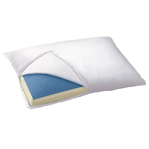 Sleep Innovations Reversible Gel Memory Foam Pillow King