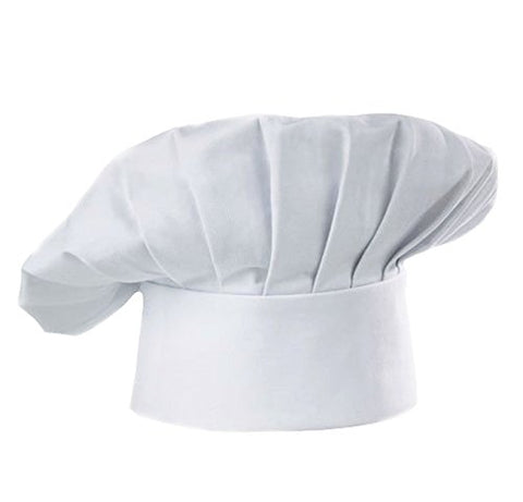 Chef Hat Adult Adjustable Elastic Baker Kitchen Cooking Chef Cap, White