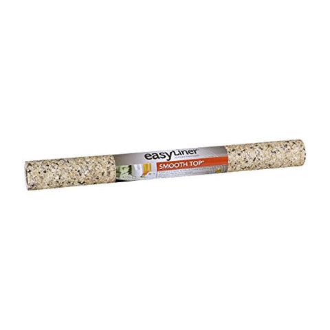 Duck Brand 282026 Smooth Top Easy Liner Non-Adhesive Shelf Liner, 20-Inch X 6-Feet, Beige Granite