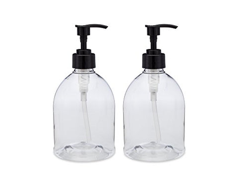 Earth'S Essentials Versatile 16 Ounce Refillable Designer Pump Bottles. Excellent Liquid Hand Soap Dispensers. Great For Dispensing Homemade Lotions, Shampoos And Massage Oils.
