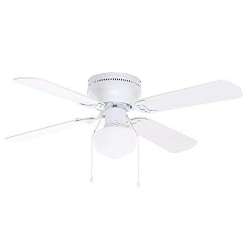 Hampton Bay Ub42Swh-Sh Littleton 42 In. Indoor White Ceiling Fan With Light Kit