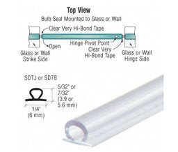 Crl Translucent Vinyl Bulb Seal With Pre-Applied Tape For 7/32