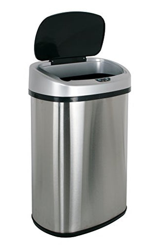 Bestoffice Infrared Touchless Stainless Steel Trash Can, 13.2-Gallon (Stainless)