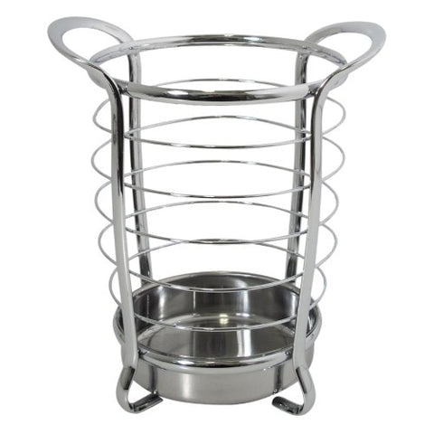 Interdesign Axis Utensil, Spatula, Silverware Holder For Kitchen Countertop Storage - Chrome
