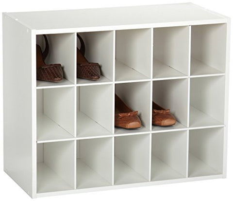 Closetmaid 8983 Stackable 15-Cube Organizer, White