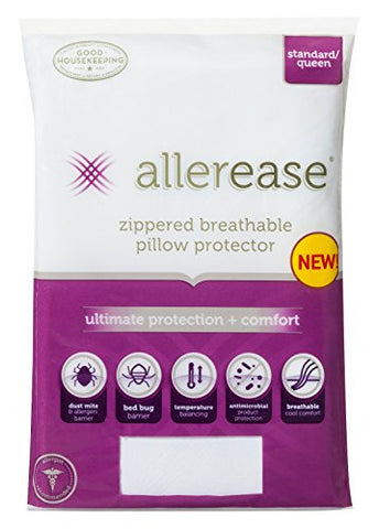 Allerease Ultimate Protection And Comfort Temperature Balancing Pillow Protector - Standard/Queen