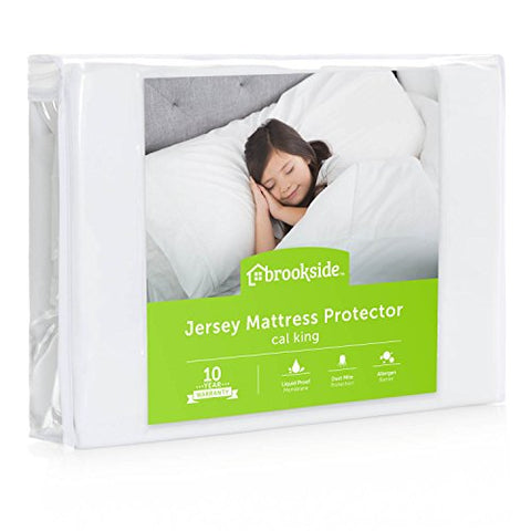 Brookside Soft Jersey Mattress Protector, Waterproof And Dust Mite Proof, King