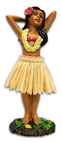 Hula Girl Posing Mini Dashboard Doll 4.4