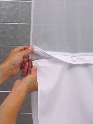 Hookless Rbh40Bbs01 Snap-In Fabric Liner For Shower Curtains - White