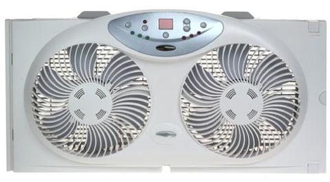 Bionaire Twin Reversible Airflow Window Fan With Remote Control