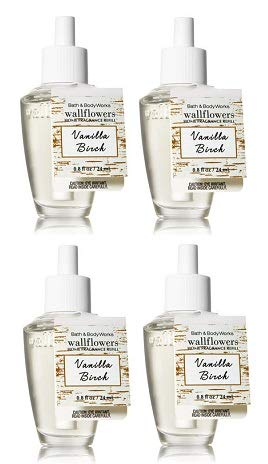 Bath And Body Works Vanilla Birch Wallflowers Fragrances Refill. 0.8 Oz.