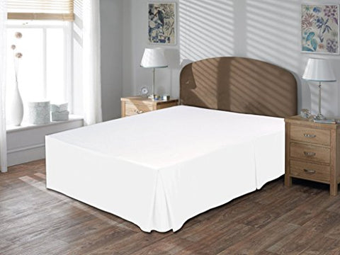 Amazon Luxurious Comfort Beddings 800Tc Bedskirt 22 Drop Length 100% Egyptian Cotton Queen Size White Solid