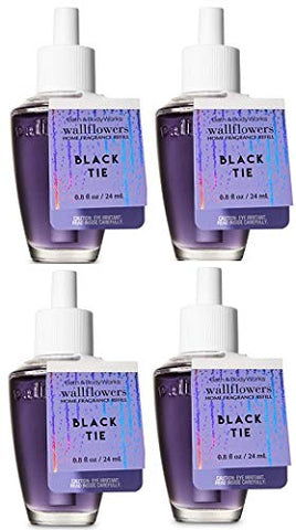 Bath And Body Works Black Tie Wallflowers Fragrances Refill. 0.8 Oz. 4 Set.