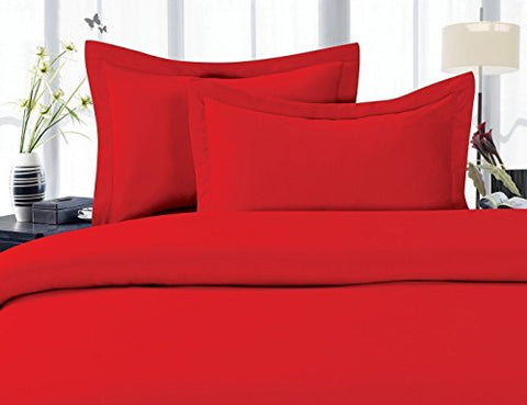 #1 Best Seller Luxury Bed Sheets Set On Amazon! Highest Quality - Elegant Comfort 1500 Thread Count Wrinkle,Fade And Stain Resistant 4-Piece Bed Sheet Set, Deep Pocket - Queen Red