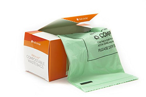 Full Circle Fresh Air Compostable Biodegradable Waste Bags, 25-Count