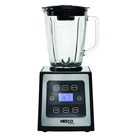 Nesco Bl-90, Digital Control Blender With Stainless Steel Trim, Black, 700 Watts