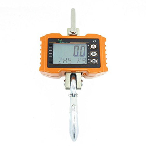Hyindoor 1000Kg/2000Lb Digital Hanging Scale Industrial Heavy Duty Crane Scale Smart High Accuracy Electronic Crane Scale (1000Kg)